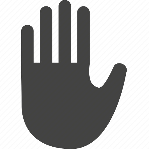 finger, fingers, gesture, hand, stop, touch icon
