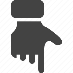 down, hand, push icon