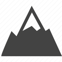 image, mountain icon