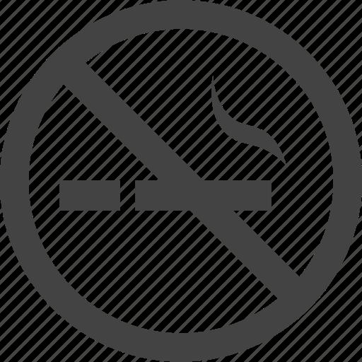 Smoking, no smoking icon