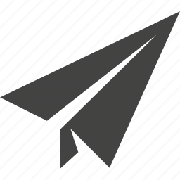 light plane, origami, paper plane, plane icon