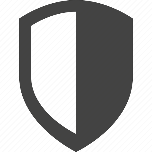contrast, protect, protection, safe, secure, security, shield icon