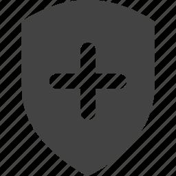 add, control, shield, steel icon