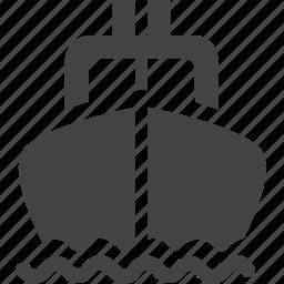 boat, sea, ship, travel, water icon
