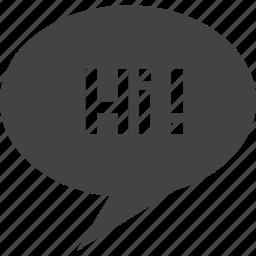 bubble, cellphone, chat, hi, message, mobile, talk, text, voice icon