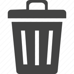 bin, can, garbage, recycle, recycle bin, trash, waste icon
