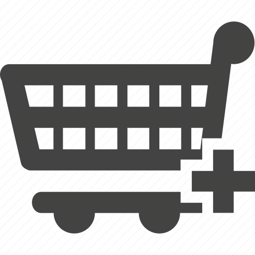 add, shopping cart, trolley icon