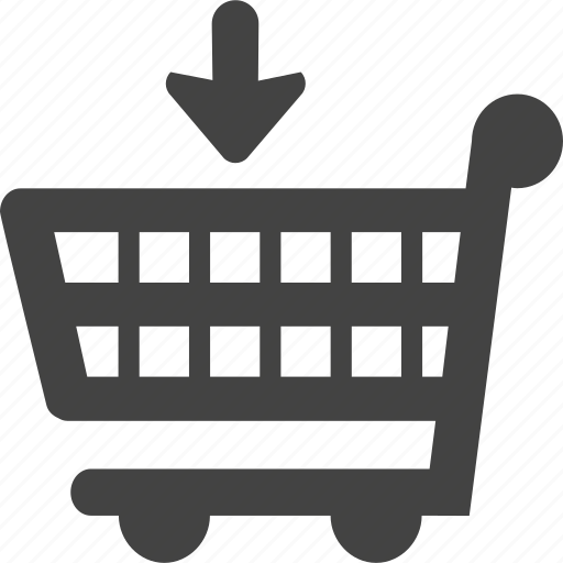 business, buy, comercial, down, sell, trolley icon
