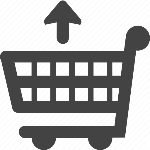 business, cart, online, trolley, up, upload icon