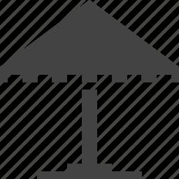 bungalow, cafe, safe, umbrella icon
