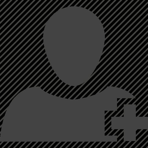 account, add, card, human, login, logout, man, name card, people, profile, user icon