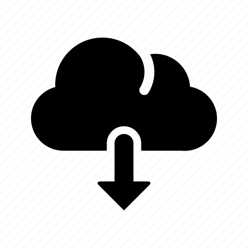 arrow, cloud, data, down, download, storage icon