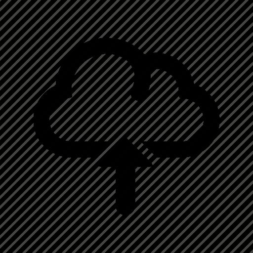 arrow, cloud, data, storage, up, upload icon