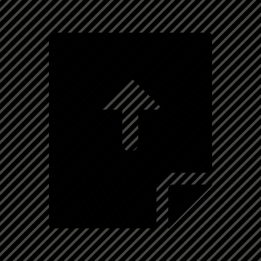 arrow, document, file, up, upload icon