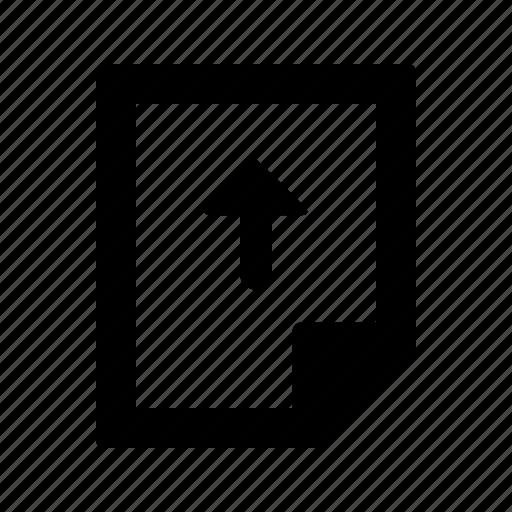 document, file, paper, upload icon