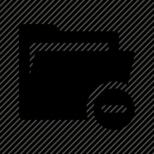 documents, files, folder, minus, open, remove icon