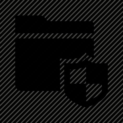 checkerd, documents, files, folder, shield icon