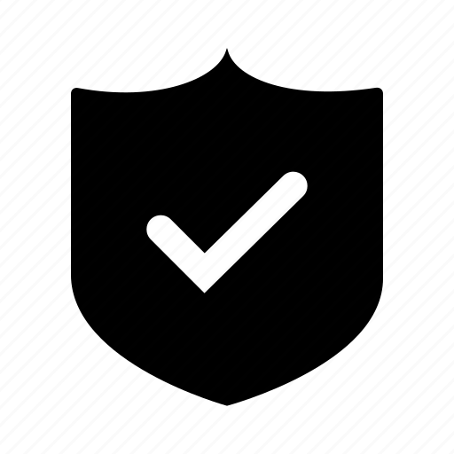 checkmark, protection, safe, secure, security, shield icon