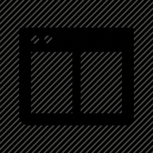 application, split, window, windows icon
