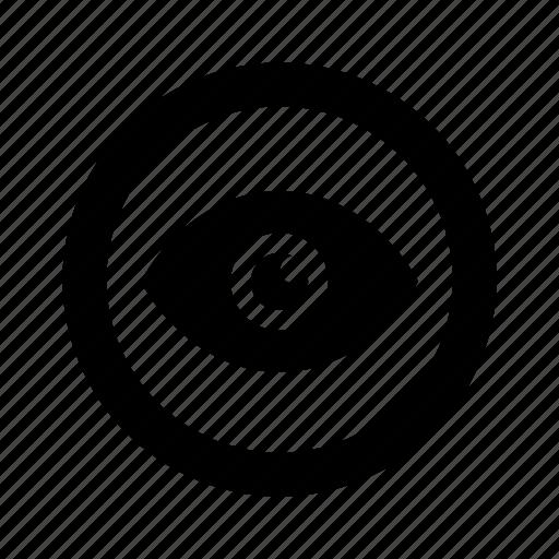circle, eye, view icon