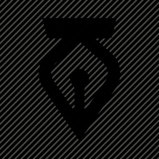 creative, editor, fountian, pen, tip, vector icon
