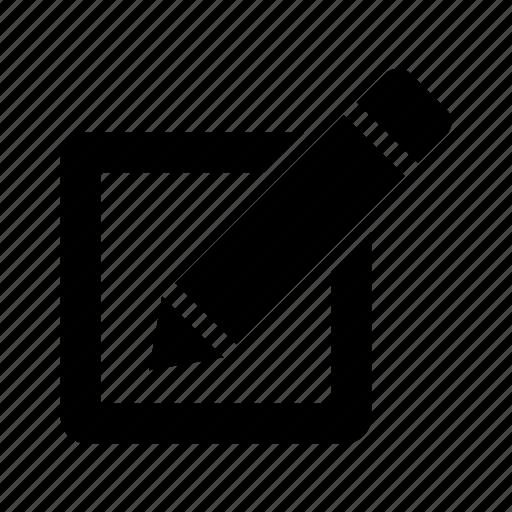 checkbox, edit, pen, pencil, text, write icon