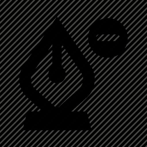 delete, minus, pen, remove, vector icon