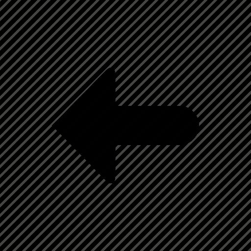 arrow, big, direction, left icon