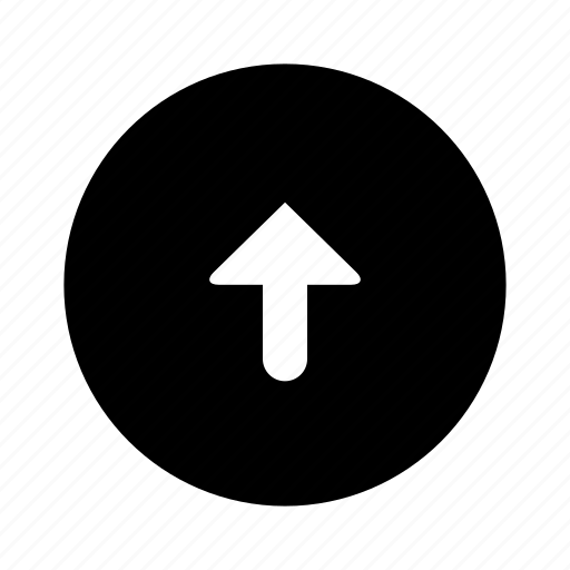 arrow, circle, direction, filled, up icon