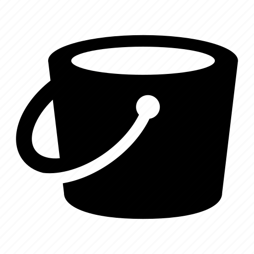 bucket, design, fill, tool icon