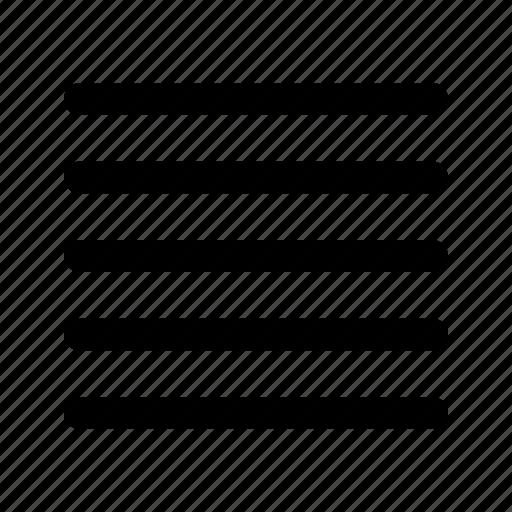 edit, justify, text icon