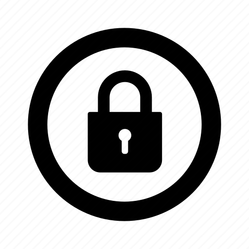 circle, lock, locked, protection, safe, secure icon