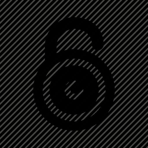 lock, round, unlock, unlocked icon
