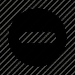 big, circle, delete, minus, remove icon
