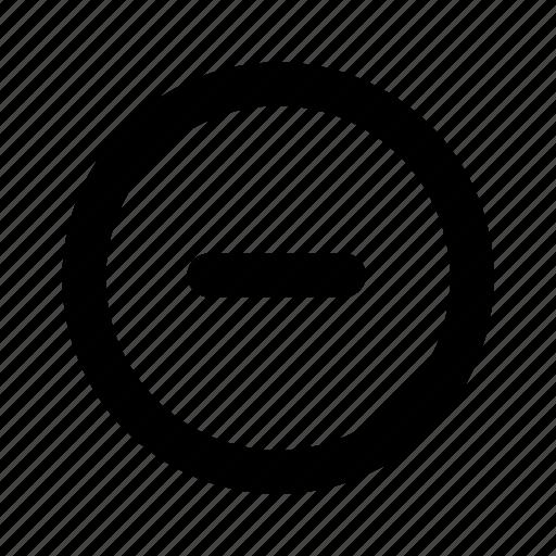 cancel, circle, delete, minus, remove icon