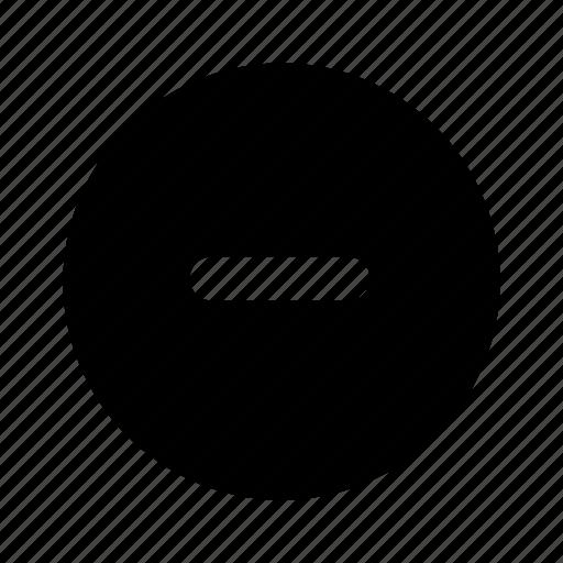 circle, delete, filled, minus, remove icon