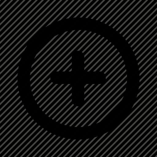 add, circle, plus icon