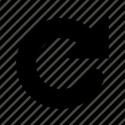 big, refresh, reload, repeat icon