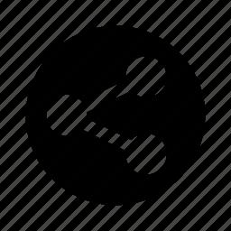 circle, share, social icon