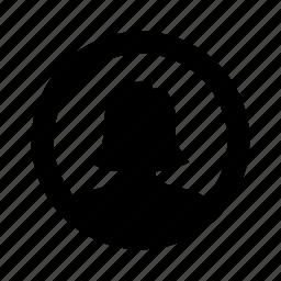 circle, female, person, user, woman icon