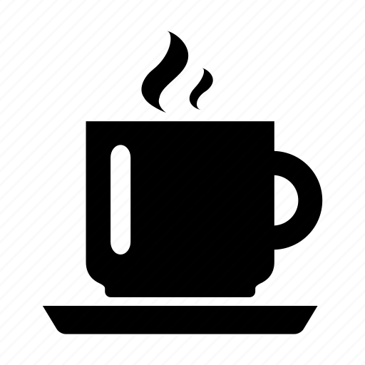 beverage, coffee, cup, drink, mug, plate, steam icon