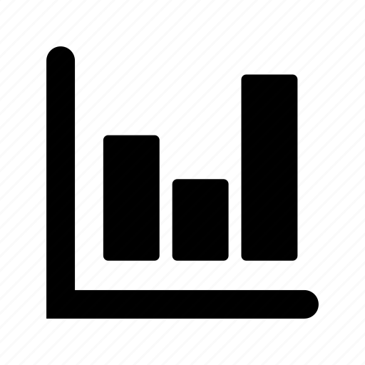 analytics, bars, graph icon