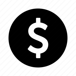 circle, dollar, money icon