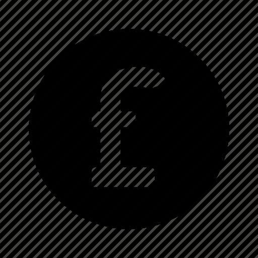 circle, money, pound icon