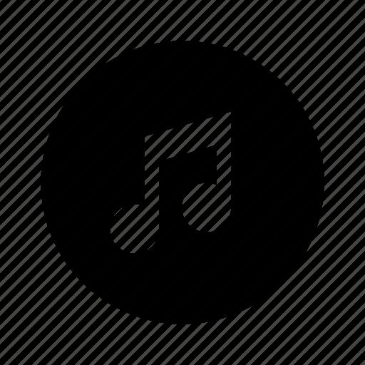 audio, circle, media, music, note, sound icon