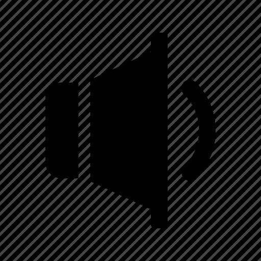 audio, medium, sound, speaker, volume icon