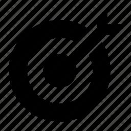 arrow, bozai, on, scope, target icon