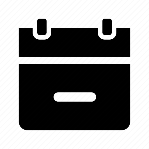 calendar, date, event, minus, remove, schedule icon