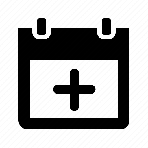 add, calendar, event, plus, schedule icon