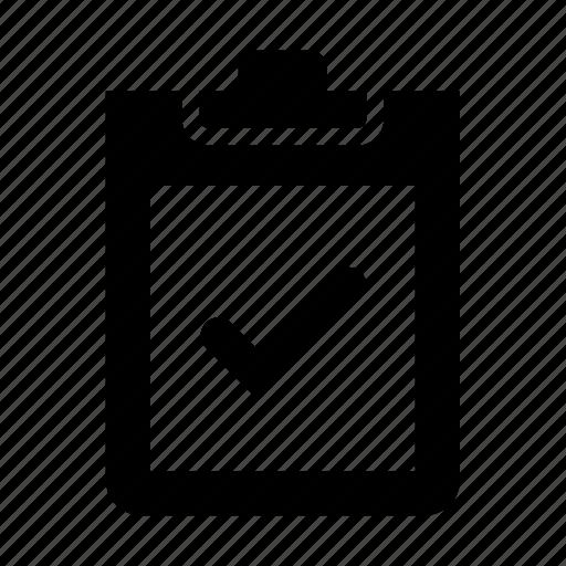 checklist, checkmark, clipboard icon